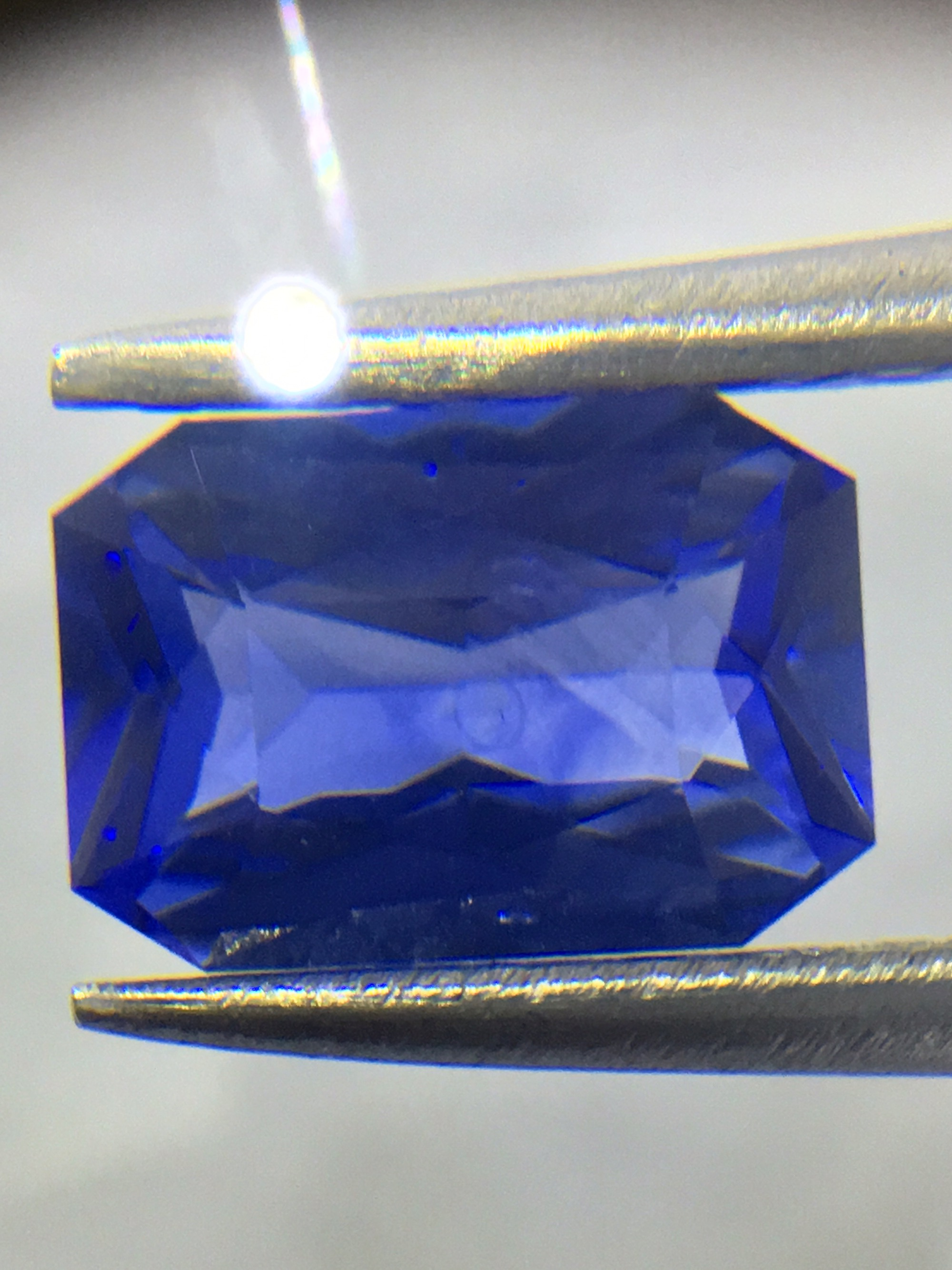 sapphire sapphires slice blue gemstone pin other cut freeform natural c pair