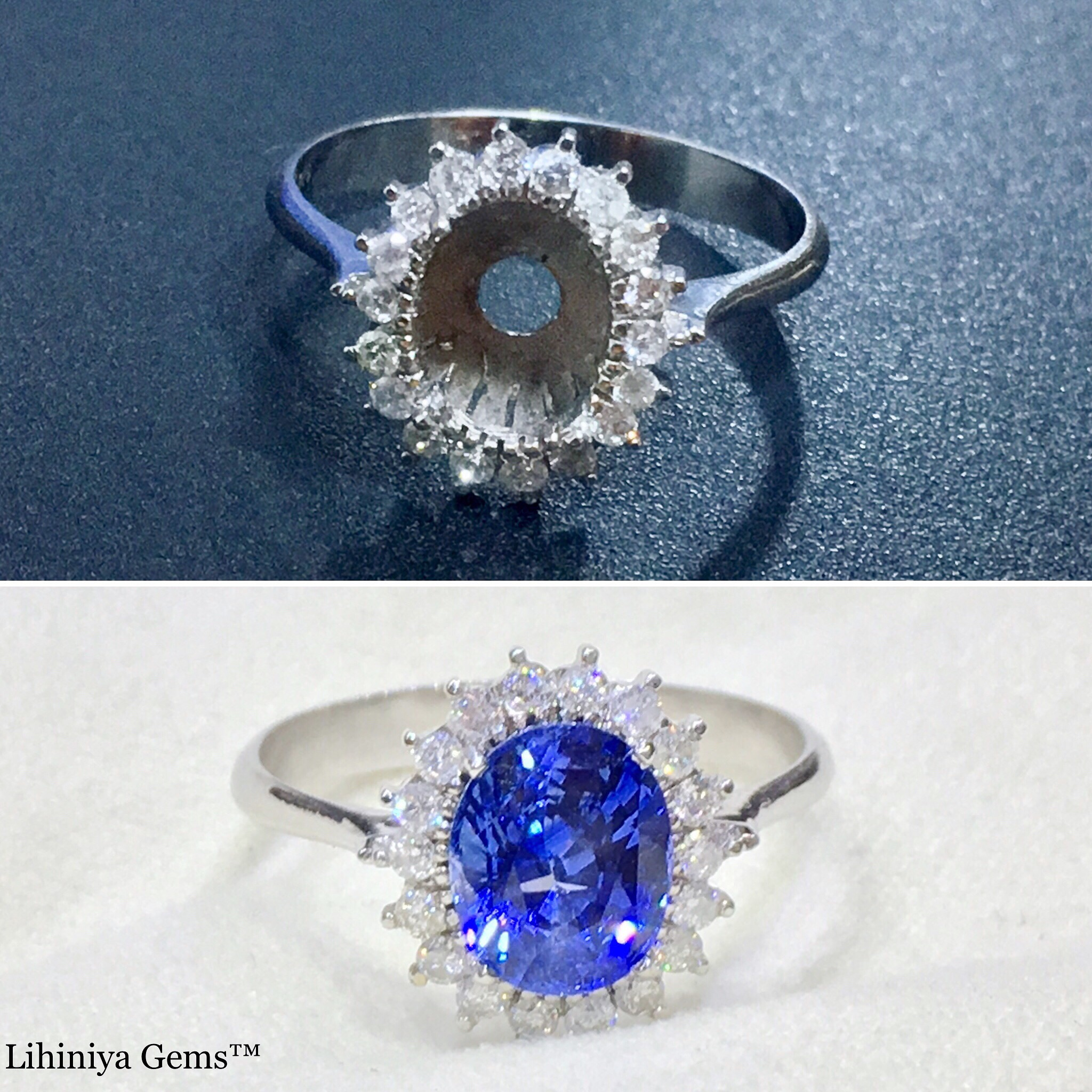 ring oval rose halo blue il engagement fullxfull sapphire natural genuine diamond listing gold