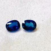Blue Sapphire & Diamonds earrings